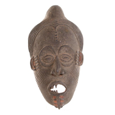 Yombe Inspired Hand-Carved Mask, Central Africa