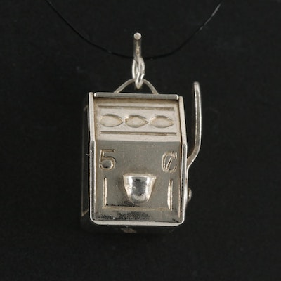 Sterling Silver Articulated Slot Machine Charm