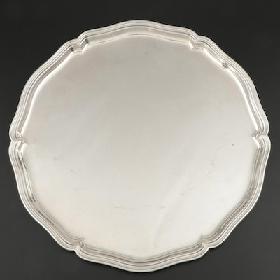M. H. Wilkens & Söhne 835 Silver Scalloped Salver, Late 19th/Early 20th Century