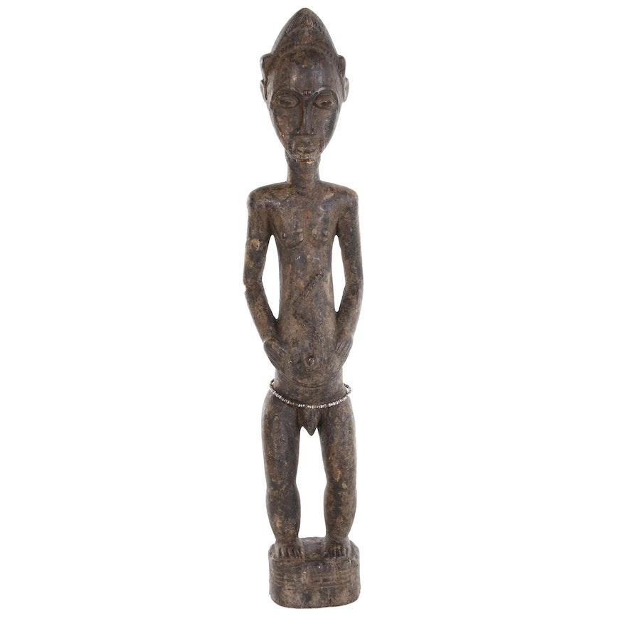 Baule Hand-Carved Wood Figure, Côte d'Ivoire