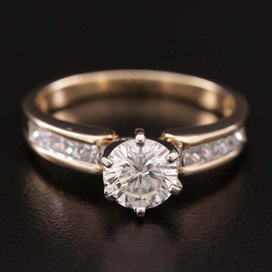 14K Gold 1.42 CTW Diamond Ring