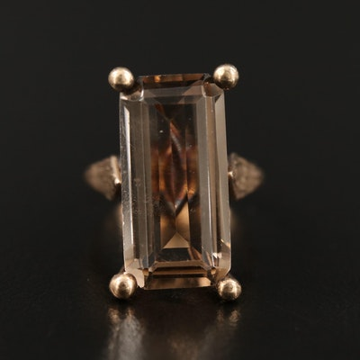 Vintage 10K Smoky Quartz Ring
