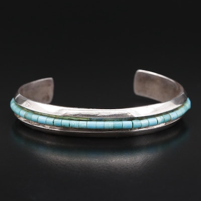 Handmade Southwestern Sterling Silver Turquoise Cuff