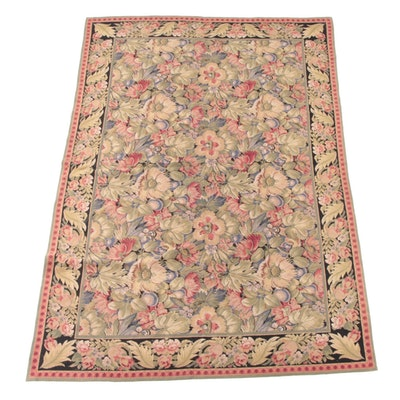 5'11 x 8'11 Handmade Aubusson Wool Rug