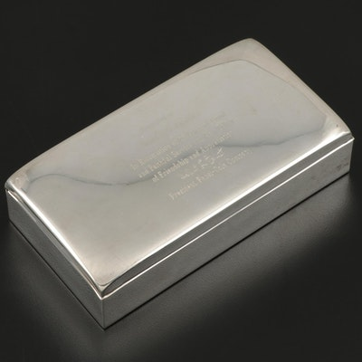 Poole Sterling Silver Cigarette Box, circa 1962