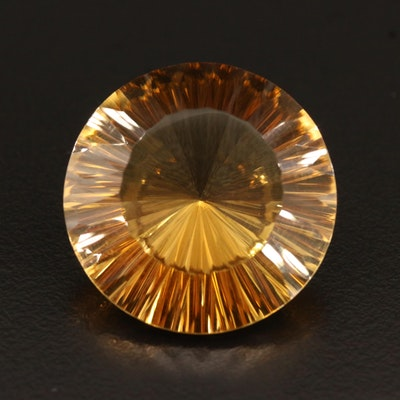 Loose 50.18 CT Round Faceted Citrine