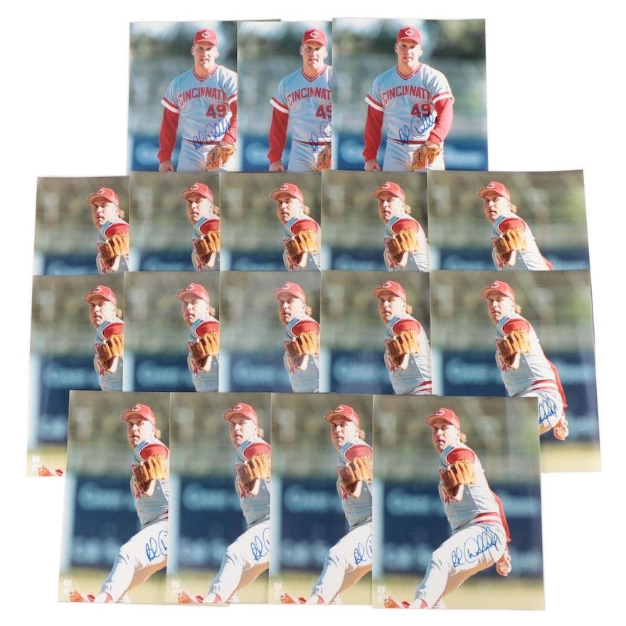1990s Rob Dibble Signed Cincinnati Reds Photo Prints