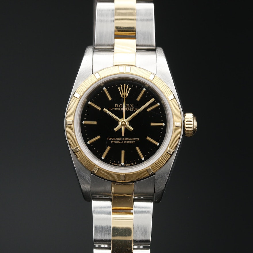 1999 Rolex Oyster Perpetual 18K and Stainless Steel Automatic Wristwatch