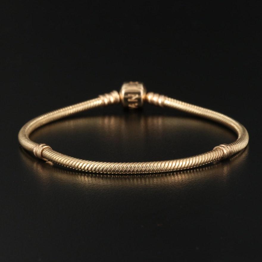 Pandora 14K Bracelet for Charms