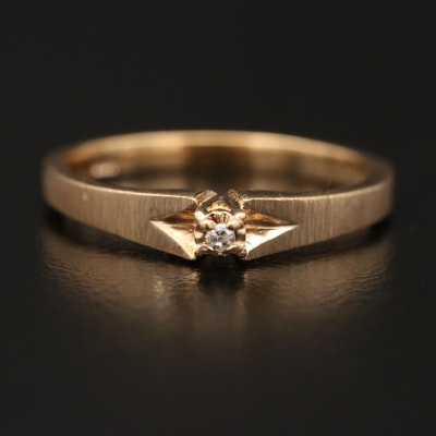 10K 0.01 CT Diamond Solitaire Ring