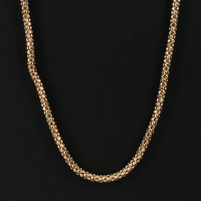 18K Popcorn Chain Necklace
