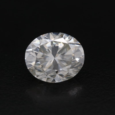 Loose Lab Grown Oval Faceted Moissanite