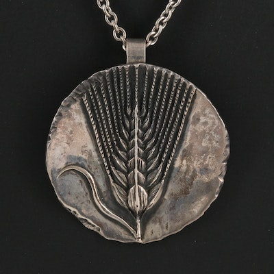 James Avery Sterling Wheat Sheaf Pendant Necklace