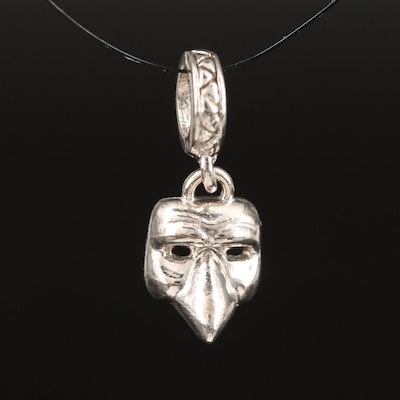 Sterling Mask Pendant