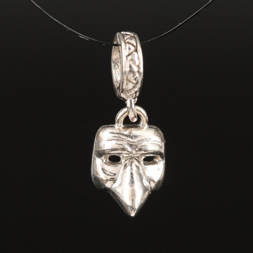 Sterling Mask Pendant