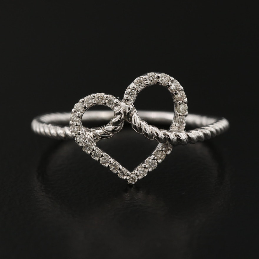 Gabriel & Co. 14K Diamond Heart Ring