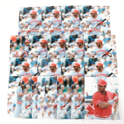 1980s Kal Daniels Signed Cincinnati Reds Photo Prints