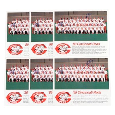 Tom Browning Signed 1989 Cincinnati Reds Team Photo Prints