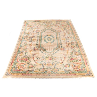 11'9 x 19'5 Hand-Knotted Floral Room Sized Wool Rug