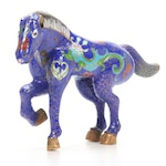 Chinese Cloisonné Lucky War Horse Figurine, 20th Century