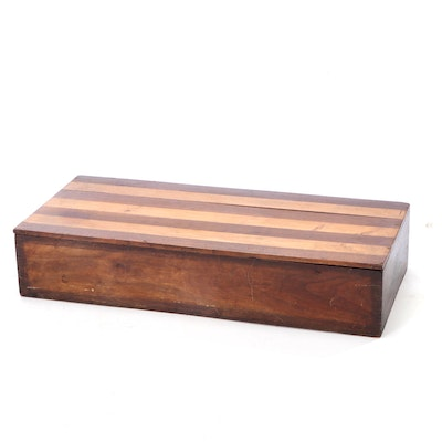 Wood Lift-Lid Storage Box, 19th Century