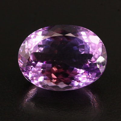 Loose 22.10 CT Oval Faceted Amethyst