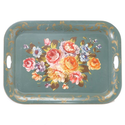 Hand-Painted Tole Serving Tray