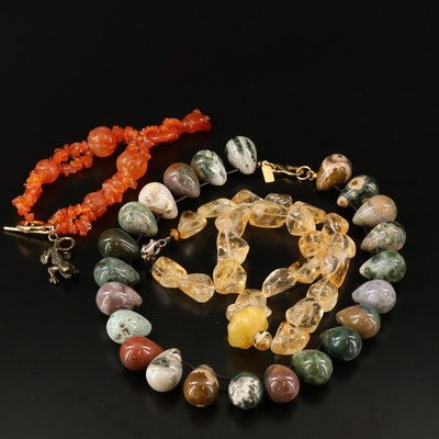 Necklaces and Bracelet Including Kenneth Lane and Sterling Clasp