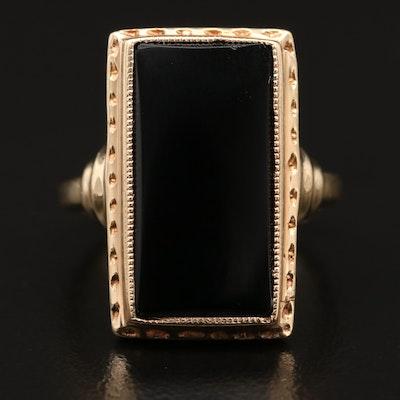 10K Black Onyx Ring