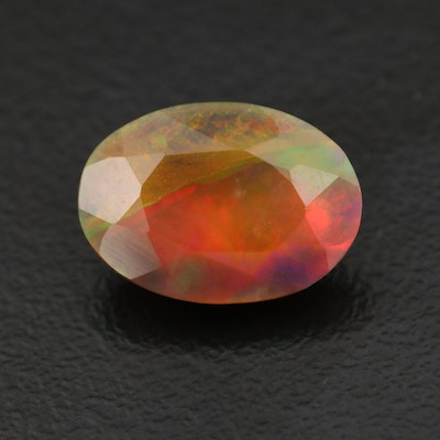 Loose 2.38 CT Oval Faceted Opal