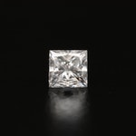 Loose 0.44 CT Princess Cut Diamond