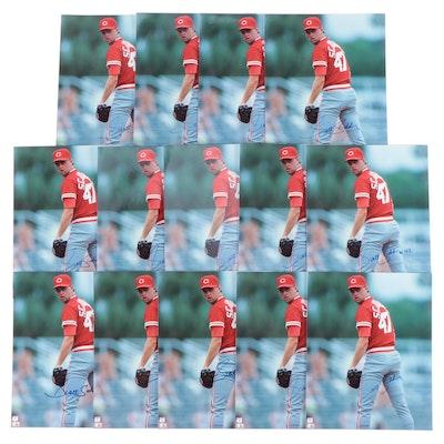 1990s Scott Scudder Signed Cincinnati Reds Photo Prints