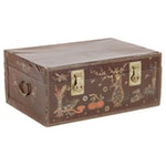 Chinese Paper-Wrapped Trunk with Brass Fixtures