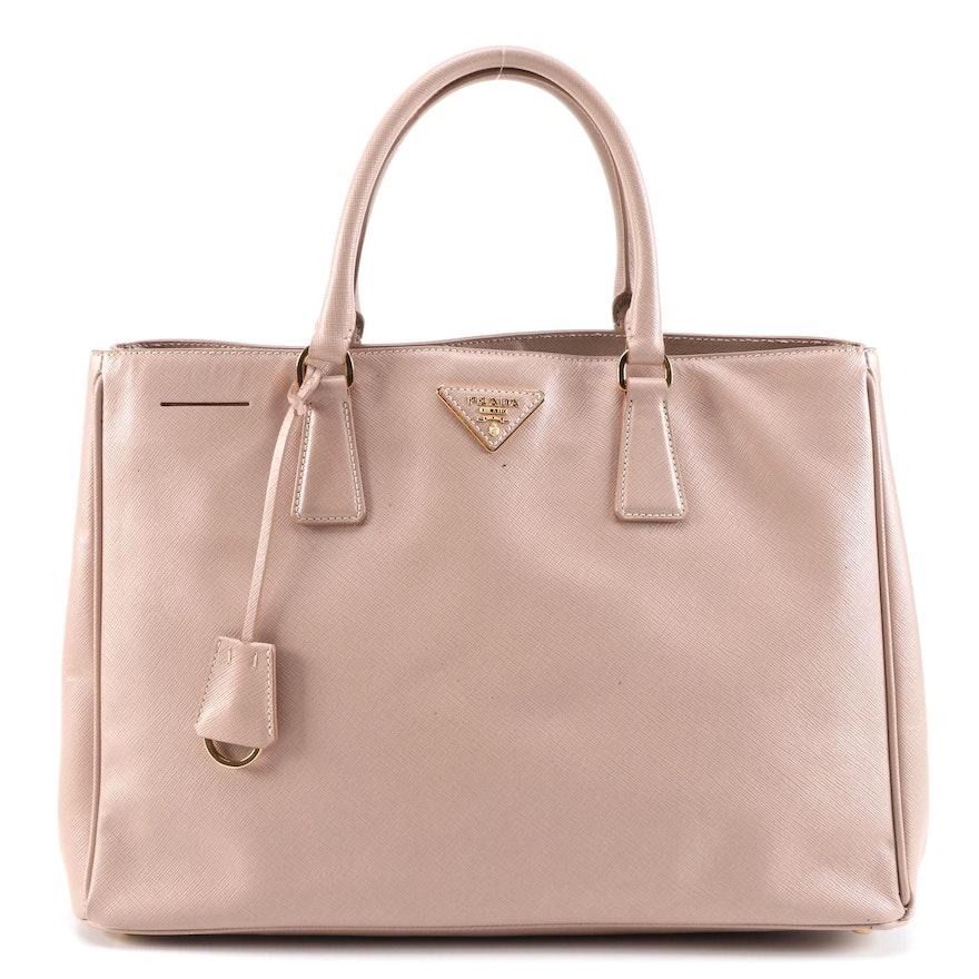 Prada Galleria Bag in Cammeo Saffiano Lux Leather