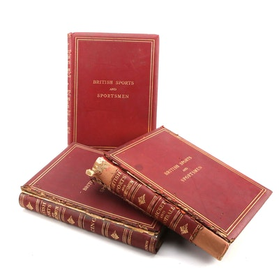 """Limited Edition """"British Sports and Sportsmen"""" Books, Early 20th Century"""
