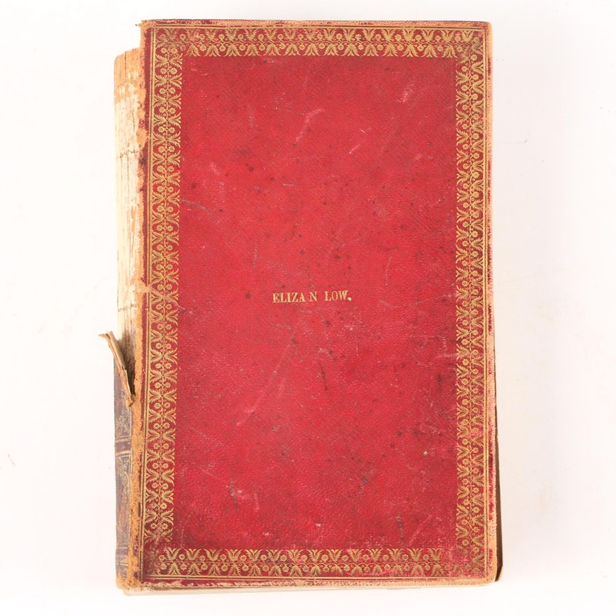 """Leather Bound """"Godey's Lady's Book for 1850"""" Volumes XL–XLI"""