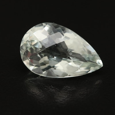 Loose 6.23 CT Pear Shaped Prasiolite