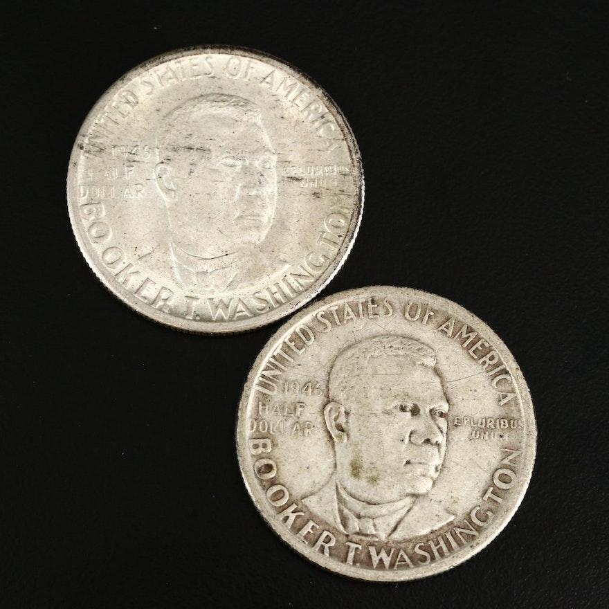 1946 Booker T. Washington Silver Half Dollars