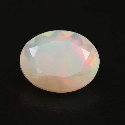 Loose 2.15 CT Oval Faceted Opal