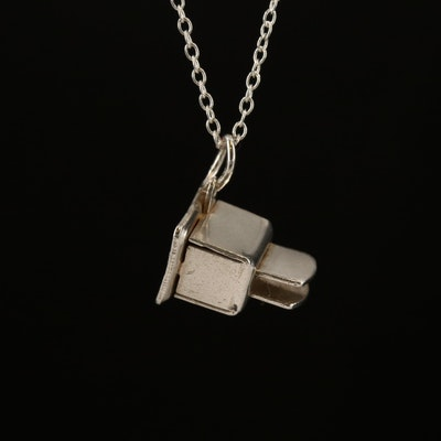 Sterling Silver Articulated Toaster Charm Necklace