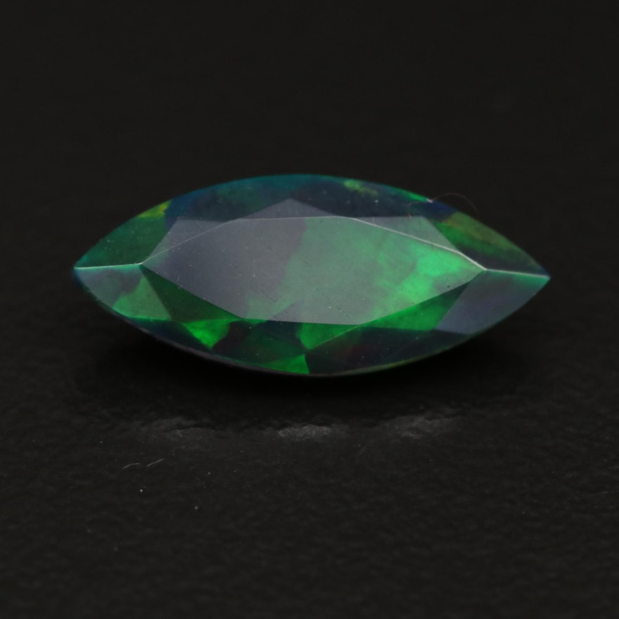 Loose 1.89 CT Marquise Faceted Opal