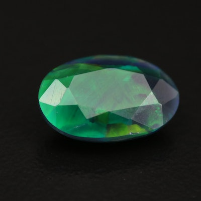 Loose 1.52 CT Oval Faceted Opal