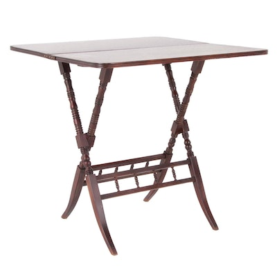 Carl Forslund Walnut Folding Table, Early to Mid 20th Century