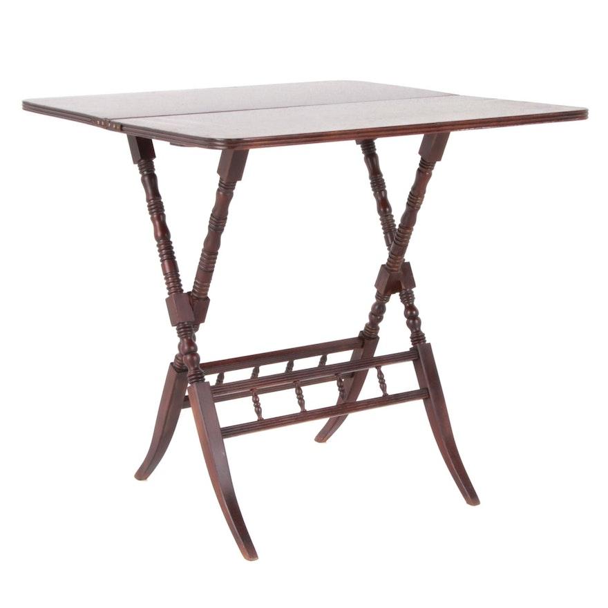 Carl Forslund Walnut Folding Table, Early to Mid 20th Century