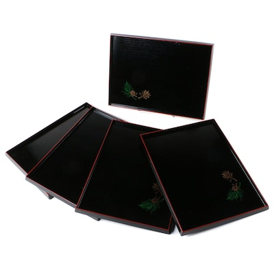 Japanese Lacquerware Trays with Presentation Boxes