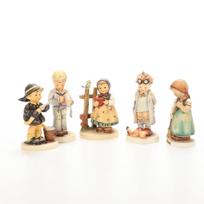 "Goebel ""Fire Fighter"" and Other Porcelain Hummel Figurines"