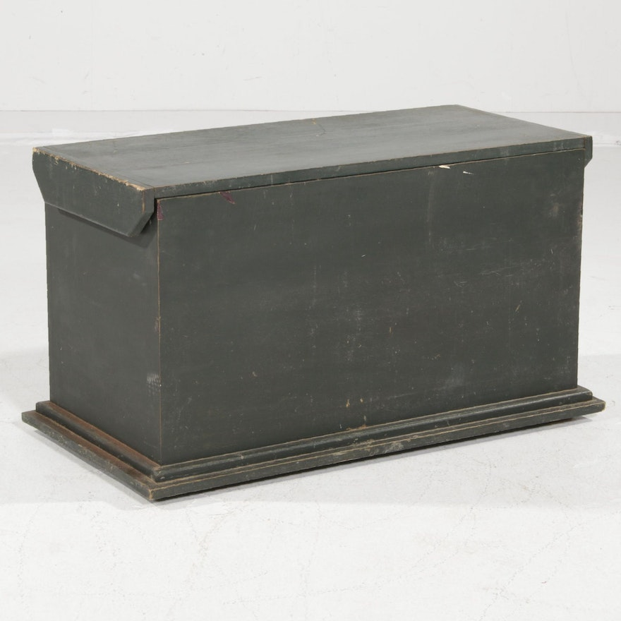 Painted Wood Blanket Chest, Mid to Late 20th Century