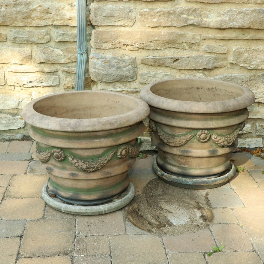 Pair of Rookwood Pottery Earthenware Jardinières, 1916