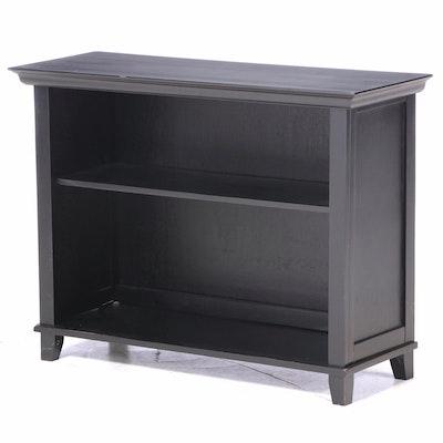 Contemporary Ebonized Wood Bookcase