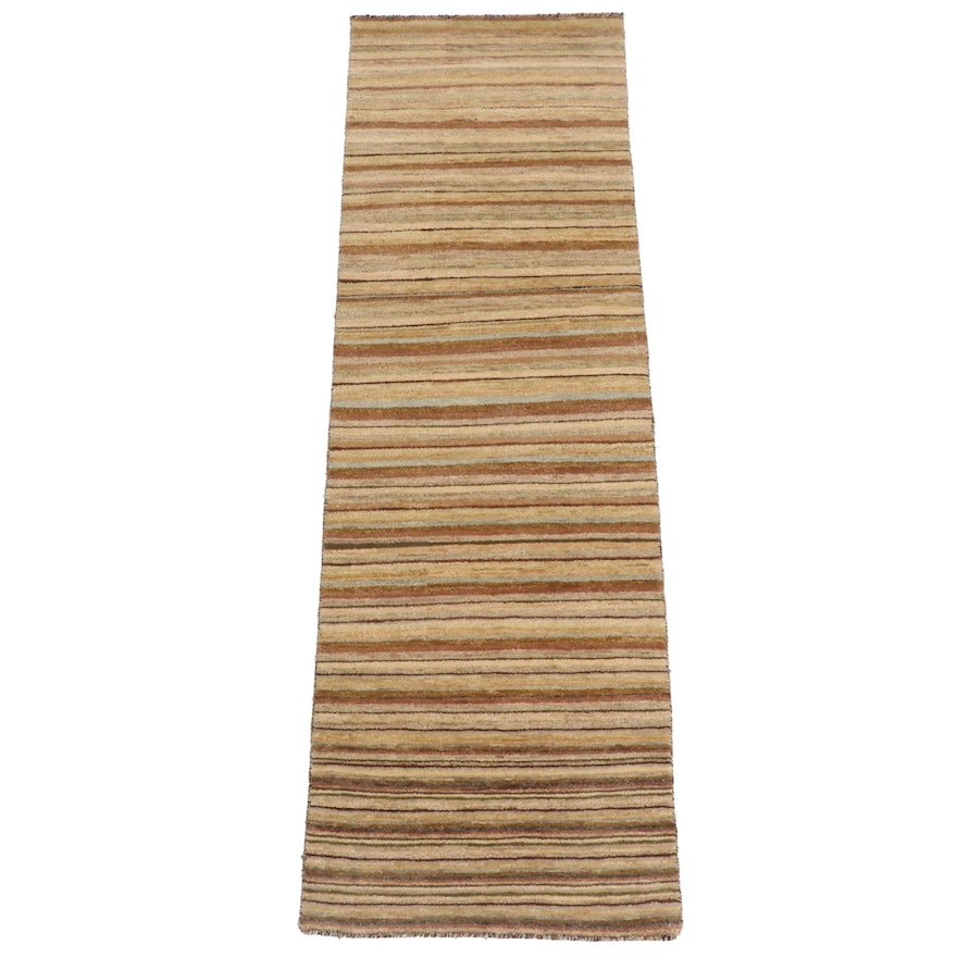 2'0 x 6'6 Hand-Knotted Indo-Persian Gabbeh Runner Rug